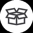 Caja abierta mensajeria